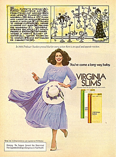 Virginia slims ad 1979 CHRISTINA FERRARE  (Image1)