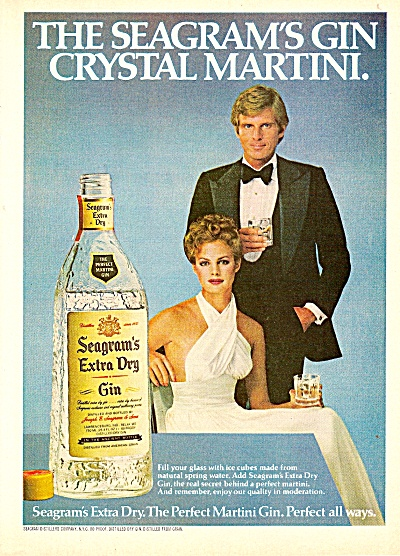 Seagram's Extra Dry Gin Ad 1979