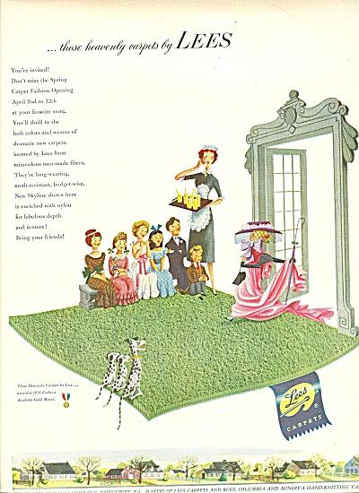 1951 Lees Carpet AD Heavenly Fashion Show (Image1)