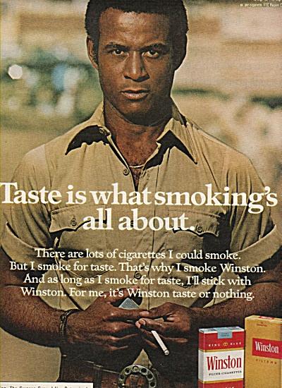 Winston cigarettes ad 1977 (Image1)