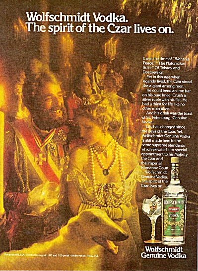 Wolfschmidt Genuine Vodka ad 1979 (Image1)