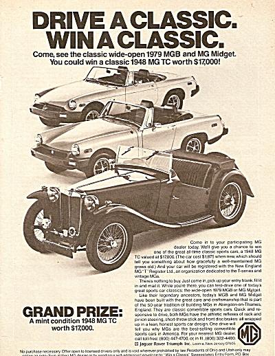 A 1948 MG TC ad 1979 (Image1)