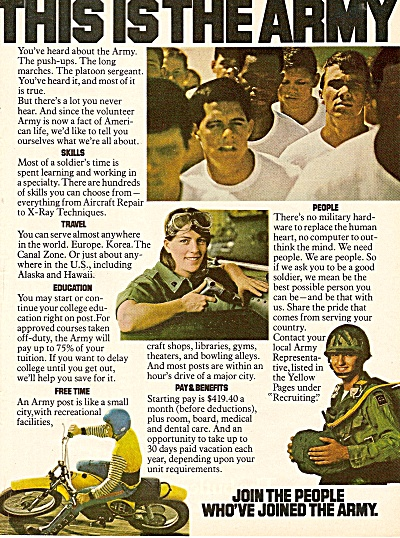 U. S.Army recruiting ad 1979 (Image1)
