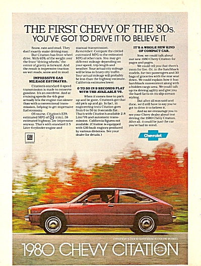 1980 Chevrolet Citation ad (Image1)