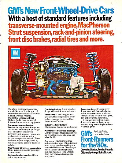 GM's front runners for the 80s ad 1979 (Image1)