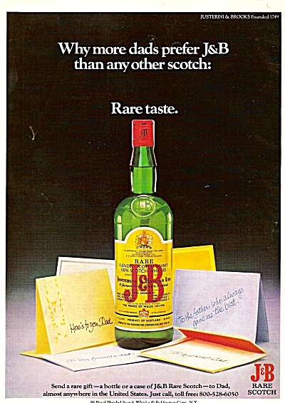 J & B scotch ad 1979 (Image1)