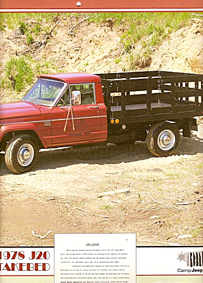 1978 J20 Stakebed Jeep truck picture (Image1)
