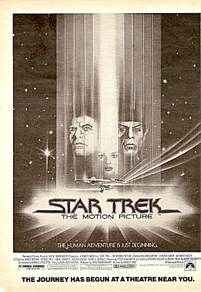 Movie;  STAR TREK  = WILLIAM SHATNER AD 1979 (Image1)