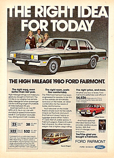 Ford Fairmont Ad 1979