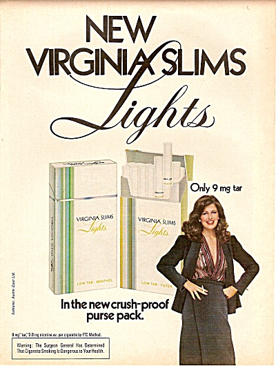 Virginia Slims cigarettes ad 1979 MODEL AUSTIN ZUUR  (Image1)