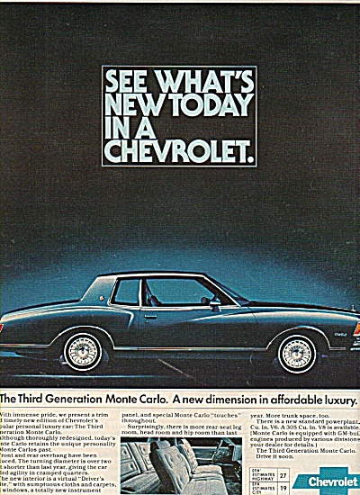 Chevrolet Monte Carlo auto ad 1977 (Image1)