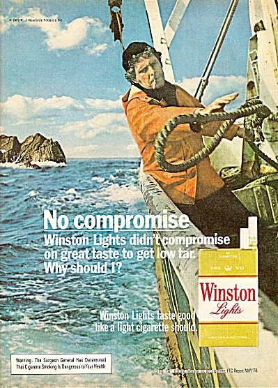 Winston lights cigarettes ad 1979 SAILING (Image1)