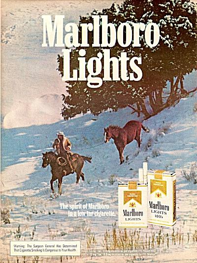 Marlboro lights cigarettes ad  1979 (Image1)