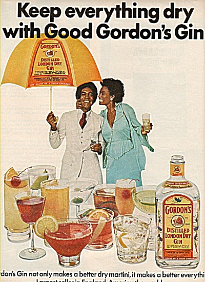 Gordon's distilled london dry gin ad 1977 (Image1)