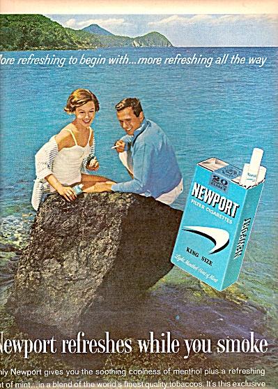 Newport cigarettes ad 1962 (Image1)