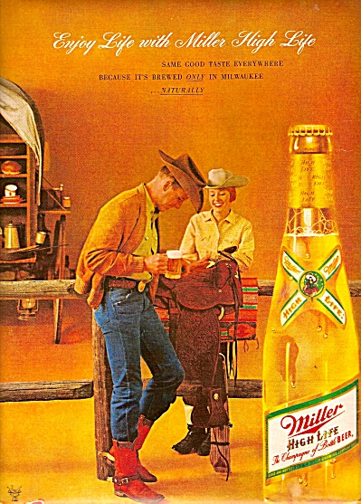 Miller high life beer ad 1962 (Image1)