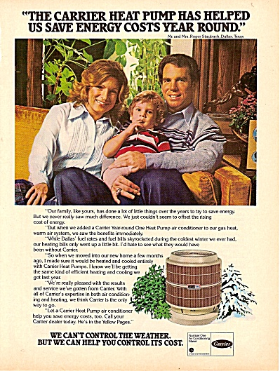 Carrier air conditioniong - ROGER STAUBACH  ad 1979 (Image1)