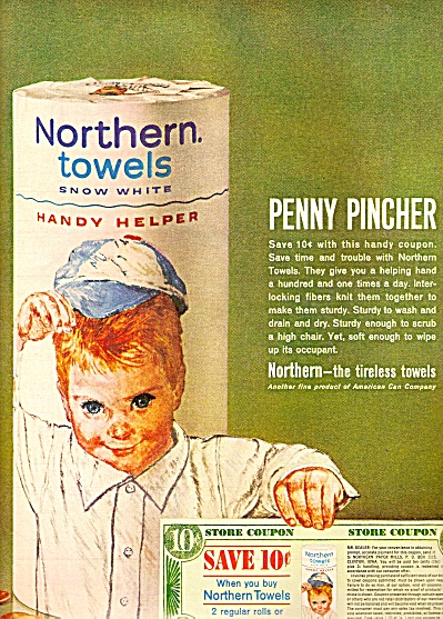 Northern towels  ad 1962 (Image1)