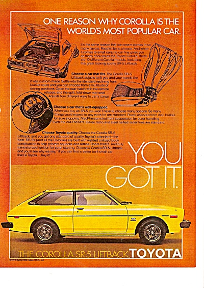 Toyota Corolla ad 1979 (Image1)