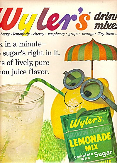 Wyler's lemonade mix ad 1962 (Image1)