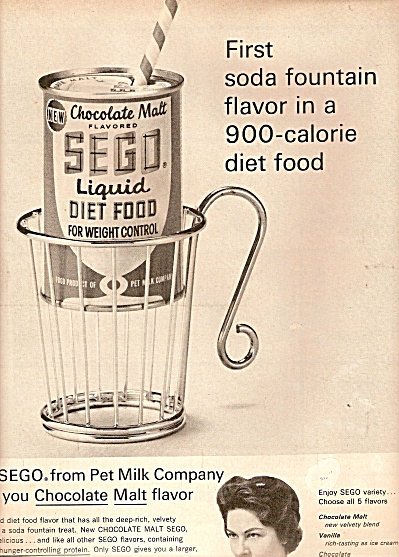 Sego Liquid Diet Food Ad 1962