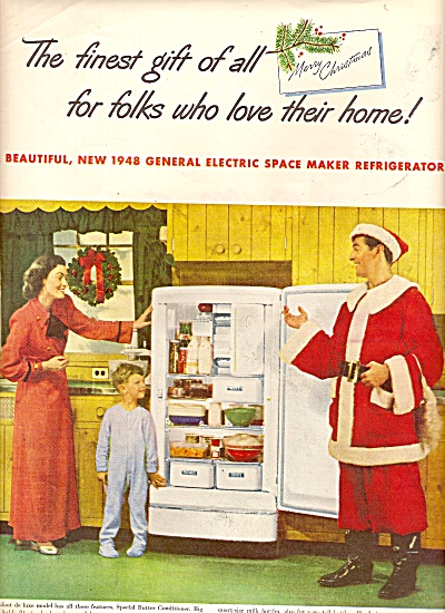 General Electric space maker refrigerator ad 1947 (Image1)