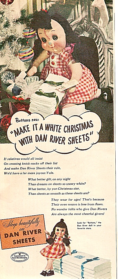 Dan Rivers Sheets Ad 1947