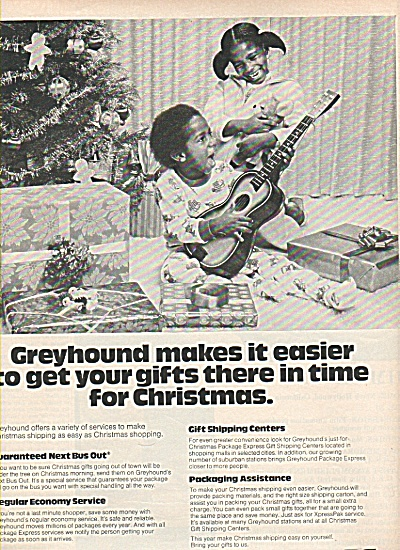 Greyhound Package Express Ad 1977