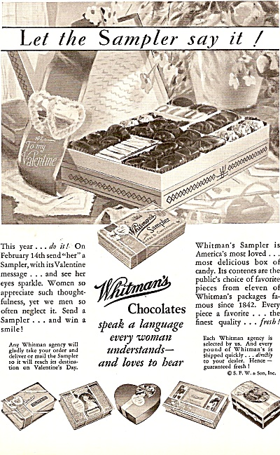 Whitman's chocolates ad (Image1)