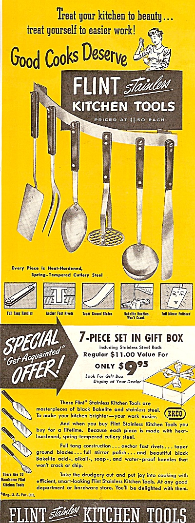 Flint stainless kitchen tools ad 1947 (Image1)