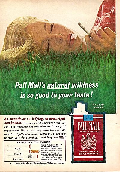 Pall Mall cigarettes ad 1962 (Image1)