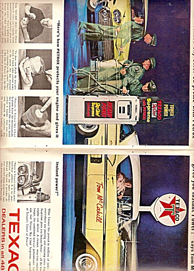 Texaco Dealers Ad 1958