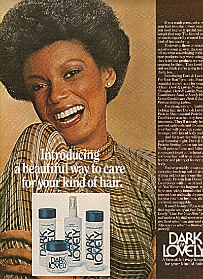 Dark & Lovely Hair Care Ad 1977
