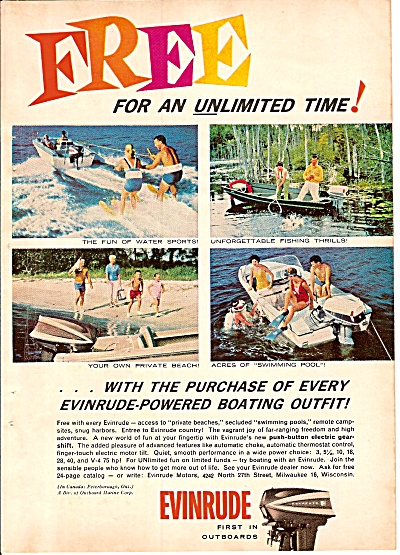 Evinrude power boats - engines  ad 1962 (Image1)
