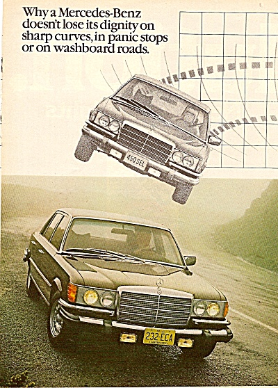 Mercedes Benz auto ads 1978 (Image1)
