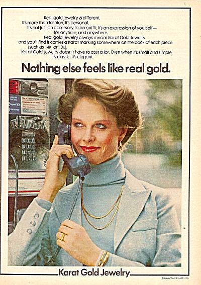 Karat gold jewelry ad 1978 (Image1)