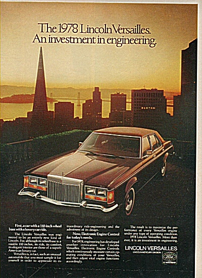 Lincoln versailles ad 1977 (Image1)
