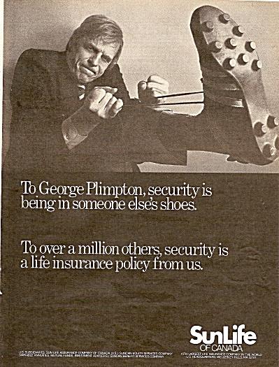 Sun Life of Canada - GEORGE PLIMPTON  ad 1978 (Image1)