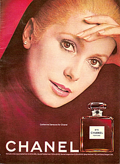 Chanel No. 5 - CATHERINE DENEUVE ad 1974 (Image1)