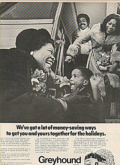 Greyhound Bus Line Ad 1977
