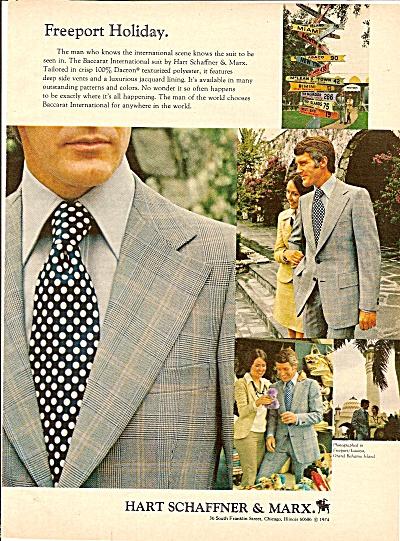 Hart  Schaffner & Marx clothes ad 1974 (Image1)