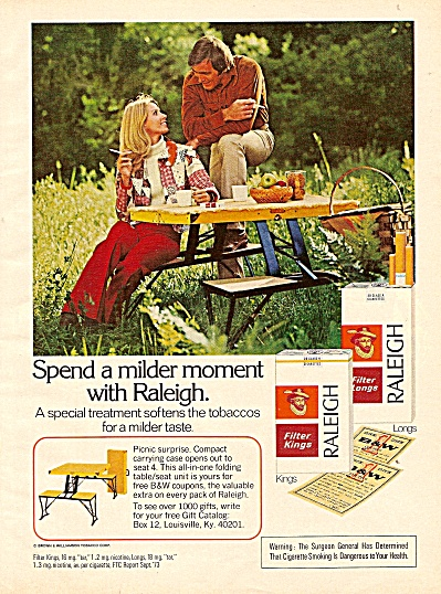 Raleigh cigarettes ad 1974 (Image1)