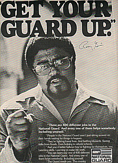 Army Nationa Guard - ROSEY GRIER  ad 1977 (Image1)
