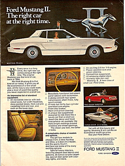 Ford Mustang II ad 1974 (Image1)