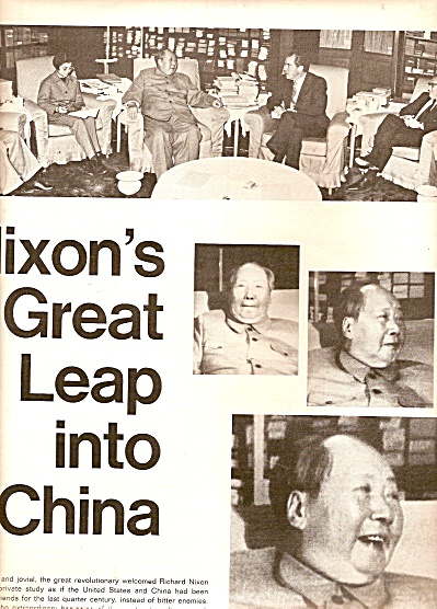 1972 PRESIDENT NIXONs GREAT LEAP into China ARTICLE 9p (Image1)