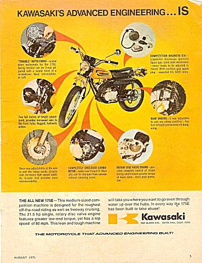 Kawasaki motorcycle ad 1971 (Image1)