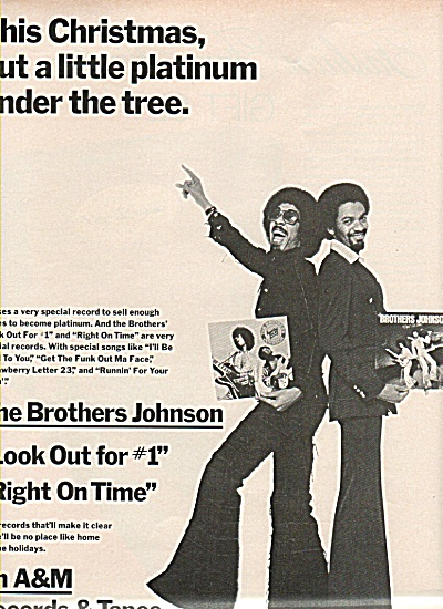 The Brothers Johnson Recods & tapes ad 1977 (Image1)