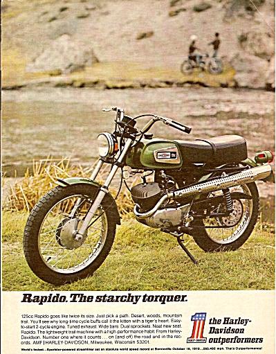 Harley Davidson RAPIDO  ad 1971 (Image1)