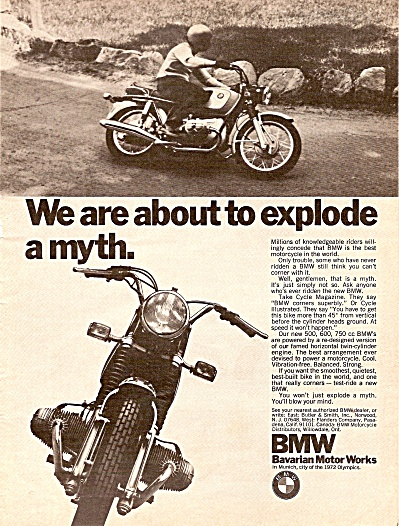 BMW-Bavarian Motor works ad 1971 (Image1)