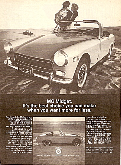 MGMidget auto ad 1971 (Image1)